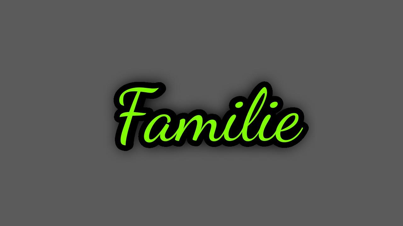 Familie - in allen  Formen und Farben