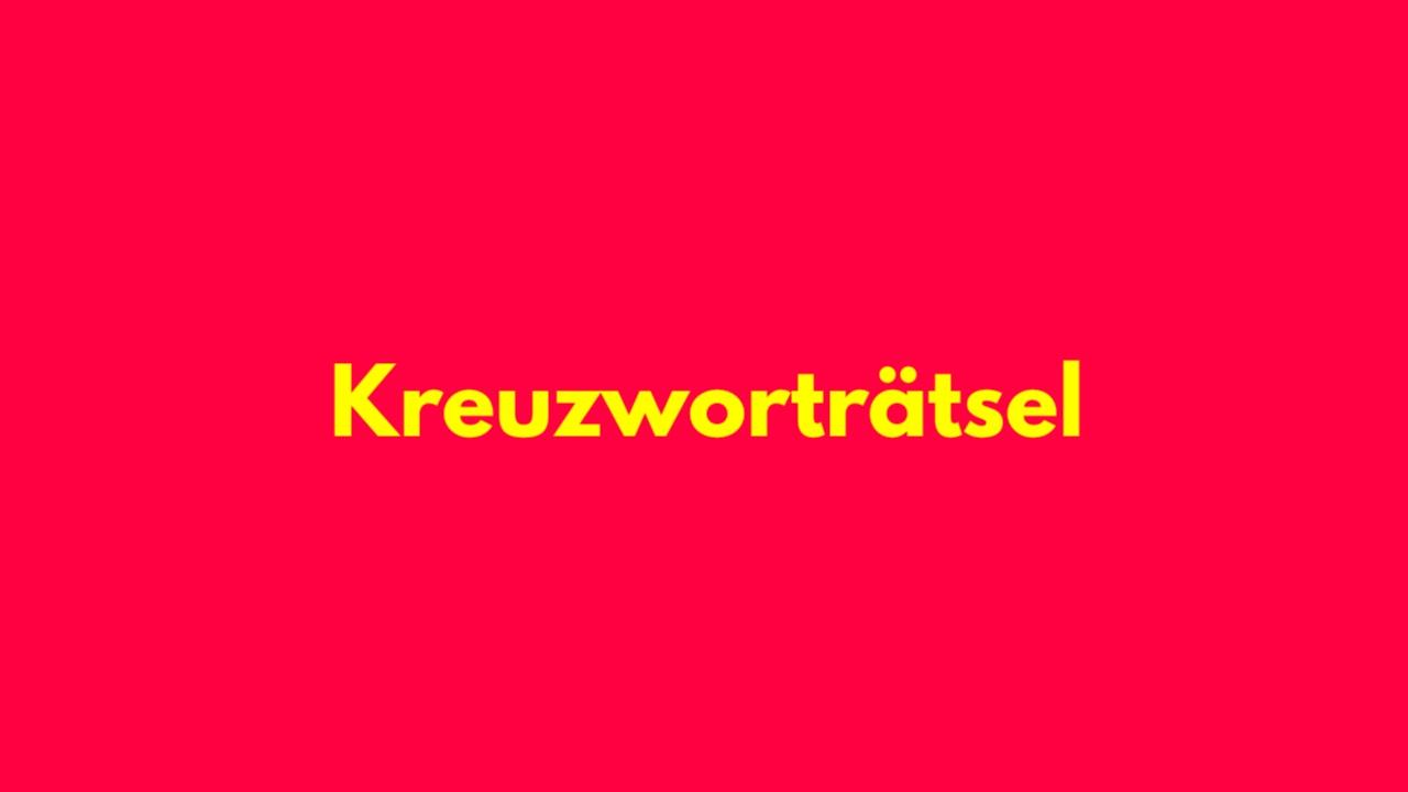 KREUZ(X)WORTRÄTSEL